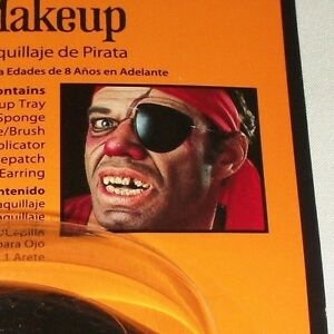 Details about Halloween Pirate Makeup Kit Costume Theater Stage Face  Painting Patch Earring