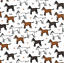 NURSERY CHILDREN FABRIC PER METRES FAT QUARTERS CRAFT PUG CATS DOGS SCOTTY PETS