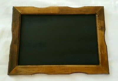 "Handmade wood rustic framed chalkboard 12 3/4"" x 9 1/2"" wedding/decor/memo"