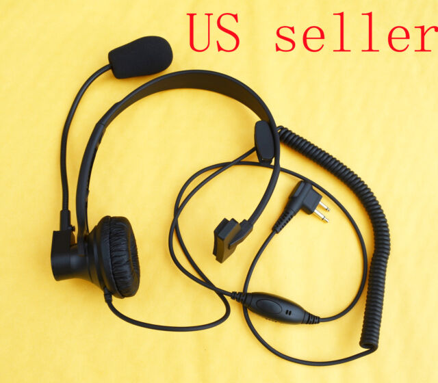 Over Head Headset/Earpiece Boom Mic For Motorola Radio CLS1410 CLS1413 CLS1450