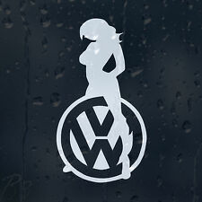 Sexy Girl Logo Car Decal Vinyl Sticker VW Golf Jetta Passat Bora Scirocco GTI