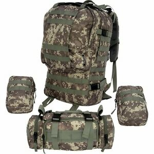 Image Is Loading 4 Pc Digital Camo 600d Backpack Bug Out