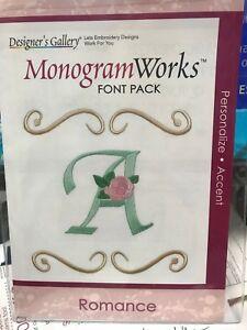 DESIGNER/'S GALLERY MONOGRAM WORKS EMBROIDERY LETTERING SOFTWARE FONTS EDG-TP6