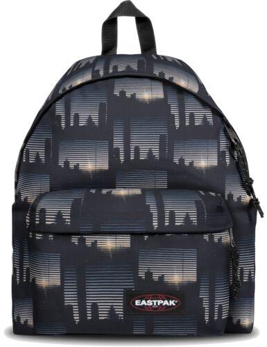 Eastpak Rucksack Schulrucksack «Padded Pakr« Schwarz Grau Backpack Upper East