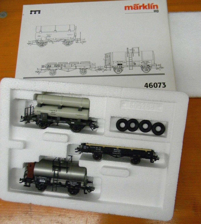 46073 Märklin wagenset Zeppelin Spur h0 DB OVP 1 87 Train güterzugset 3 piezas