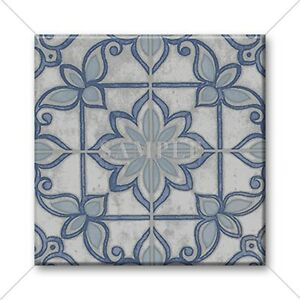 Image Is Loading Ceramic Tile Moroccan Design Vintage Colors Blue