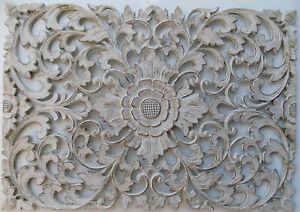 Pannello-floreale-in-legno-mdf-traforato-a-mano-cm-50x72-bianco-quadro-dipinto