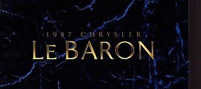 1987 Chrysler Lebaron, Sedan / Station Wagon Brochure Con Tabella Colore: Le Prezzo Di Vendita Diretto In Fabbrica
