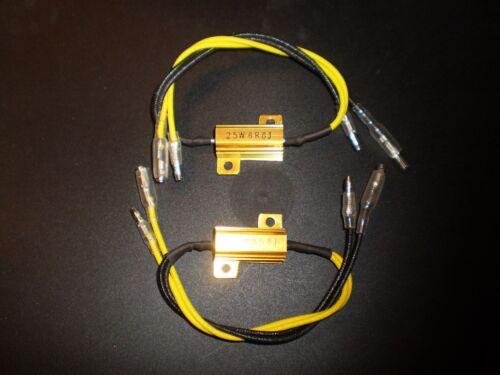 6,8 Ohm ►2X LED Blinker Leistungswiderstand,Vorwiderstand mit Kabel  25 W