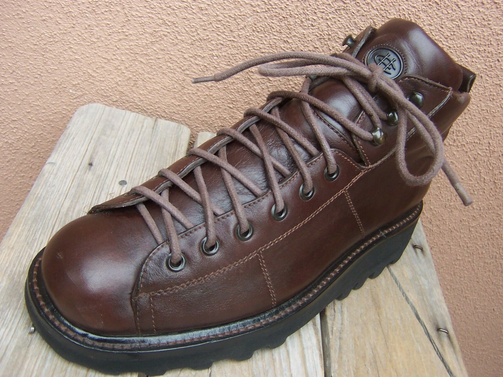 COLE HAAN Mens Casual Leather High Top Trail Hiking Mountain Boots Sz Size 7.5M