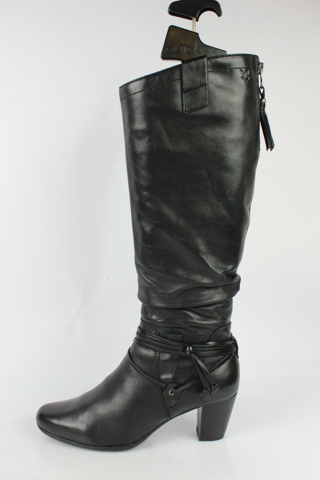 Boots CAPRICE Black Leather Leather Leather UK 4   FR 37 MINT 4c5518