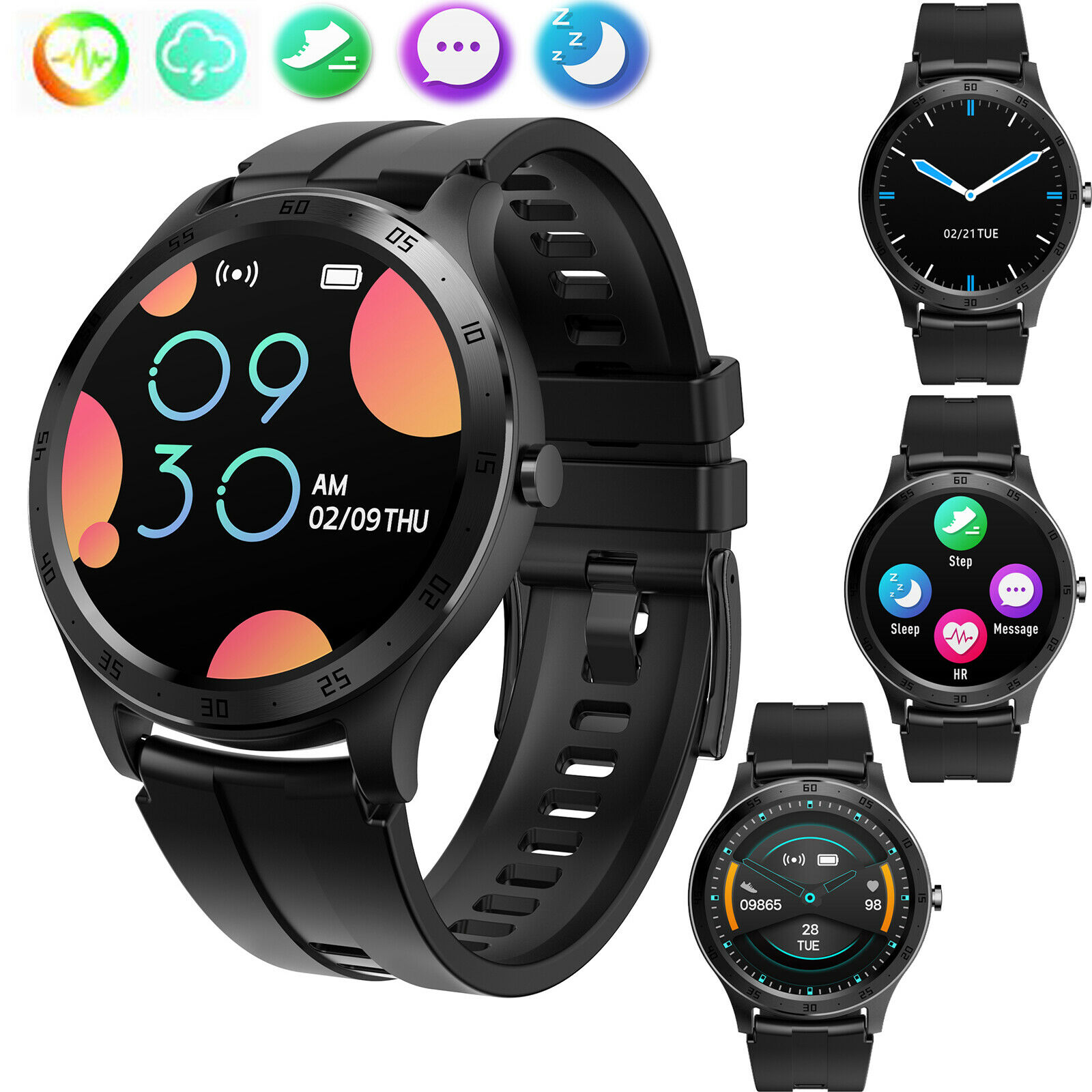 Bluetooth Smart Watch Wristband Sleep Monitor For Samsung S10 S9 S8 A40 A50 A70 a40 bluetooth Featured for monitor s10 samsung sleep smart watch wristband