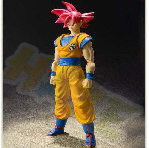 15cm S.H.Figuarts Dragon Ball Super Saiyan God Son Goku Red Hair figure Toy Gift