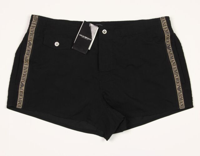 6be8c25d20 Men's GIORGIO EMPORIO ARMANI Black Swim Boxer Trunks Euro 54 NWT NEW Nice!