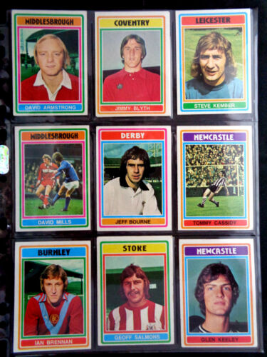 *PLEASE SELECT CARDS* TOPPS 1976 FOOTBALL BLUE//GREY CARDS 183 TO 330 G