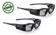2x Hi-SHOCK® DLP 7G Black Diamond | DLP Link 3D Brille für Beamer | B-Ware