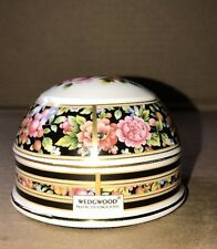 WEDGWOOD Paperweight Floral Pattern Multi Color Clio Dome Shape