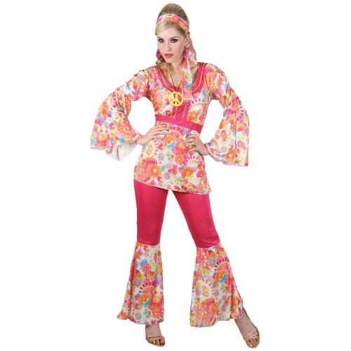 NEW 60/'s Hippie Honey Sixties 1960  Ladies Fancy Dress Costume