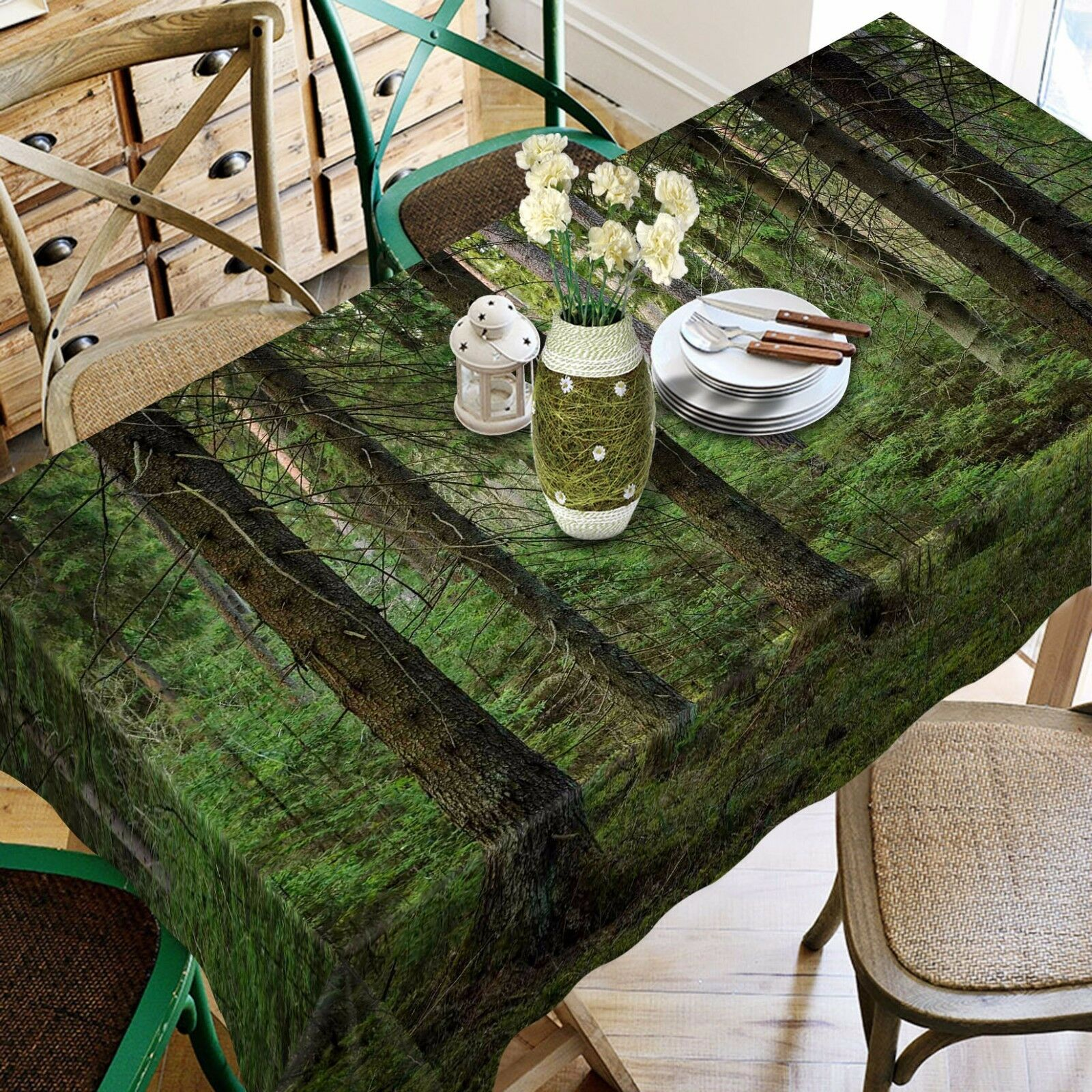 3D Jungle 783 Tablecloth Table Cover Cloth Birthday Party Event Event Event AJ WALLPAPER UK 796e99