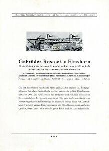 Viande Frères Rostock En Elmshorn Xl Publicité 1930 Publicité Boucher-afficher Le Titre D'origine Fftd18jd-10115810-759829227