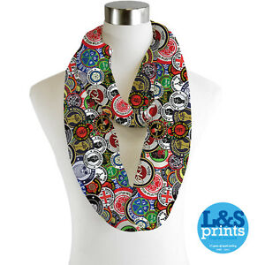 Infinity-Scarf-Chiffon-Northern-Soul-Patches-Fashion-Loop-Scarves
