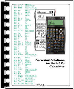 HP-35s Calculator Programmed with Surveying Solutions for the HP35s - NCEES