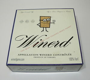 WINERD WINERY WINE TASTING BOARD GAME UNLPLAYED - SOMMELIER
