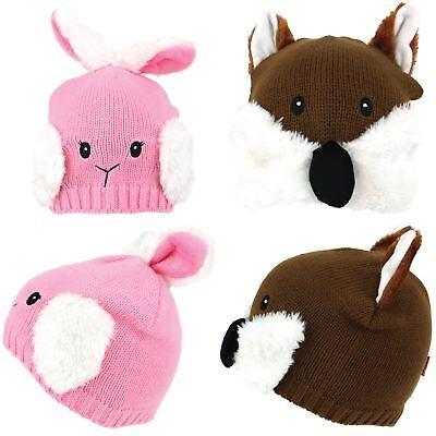 Appena Beanie Hat Cap Animale Volpe Coniglio Per Bambini In Finta Pelliccia Inverno Caldo Unisex Jiglz-mostra Il Titolo Originale