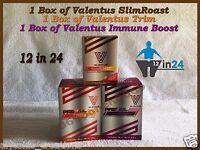 Valentus Prevail 12 In 24 Slimroast Trim Immune Weightloss Coffee 3 Boxes