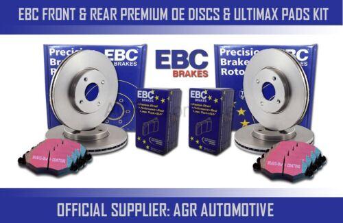 REAR DISCS AND PADS FOR SKODA OCTAVIA EBC FRONT 5E 1.4 TURBO 140 BHP 2013