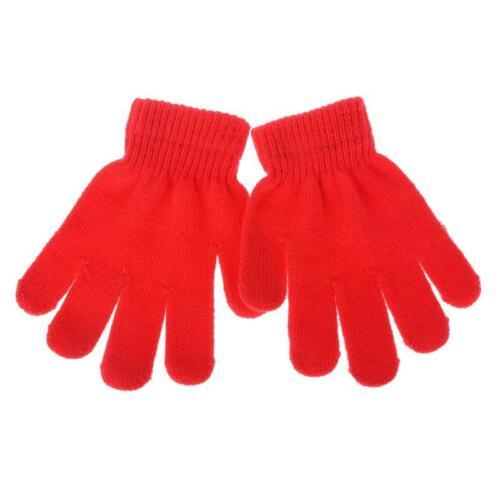 KIDS Magic Gloves 2 Pairs Winter Warm Girls Boys Stretch Black Soft Children UK