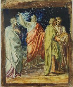 N1-017-SCENE-BIBLIQUE-HUILE-SUR-CUIVRE-XXE-SIECLE