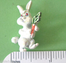 Vintage  RABBIT with carrot  scatter pin - lapel pin , brooch GIFT BOXED