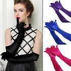 New Fashion Satin Long Gloves Opera Wedding Bridal Evening Party Costume Gloves