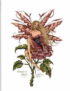 Details about WHISPERS OF SPRING - Amy Brown Fairy Print Faery RARE