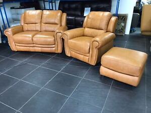 Furniture Village Arizona Tan Brown Leather 2 Seater Sofa amp Armchair Reclining - Coventry, United Kingdom - Furniture Village Arizona Tan Brown Leather 2 Seater Sofa amp Armchair Reclining - Coventry, United Kingdom