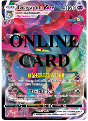 Dragapult VMAX RA Rebel Clash Sword /& Shield Pokémon TCG ONLINE Card PTCGO