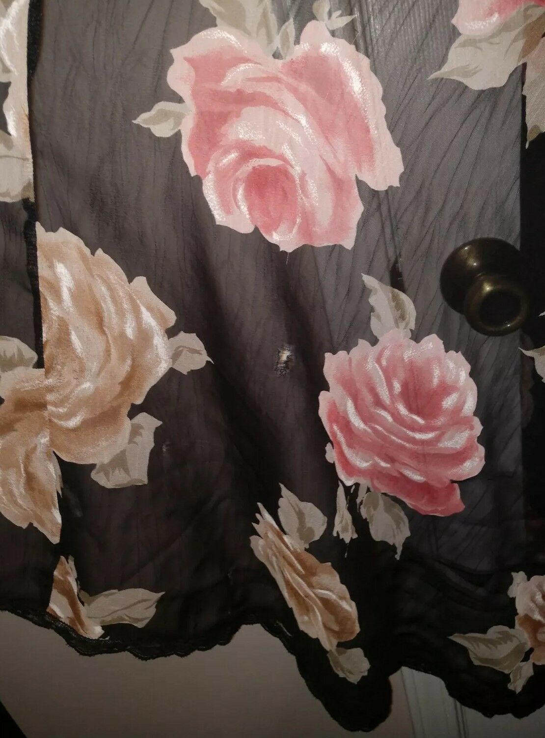 Lucie Ann Vintage Floral Sheer Size Small  - image 8