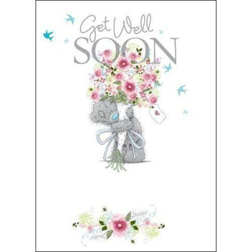 ME TO YOU GET WELL SOON CARD TATTY TEDDY BEAR NEW