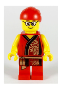 LEGO Mini Figure Musician with Glasses from set 80104 Lion Dance New