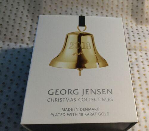 18 kt Gold-BINB Danois Georg Jensen 2018 Décoration de Noël Bell