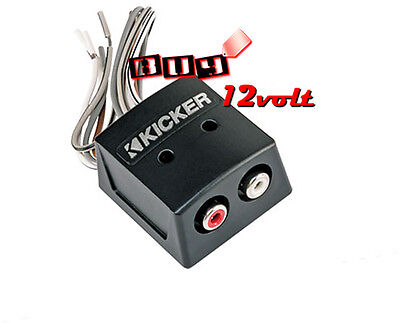 Kicker KISLOC 2-Channel K-Series Speaker Cable to RCA Adapter Line Out