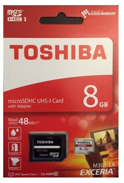 8 GB Micro SDHC Speicherkarte ideal f.Samsung GALAXY S4, S5 Class 10 +SD-Adapter