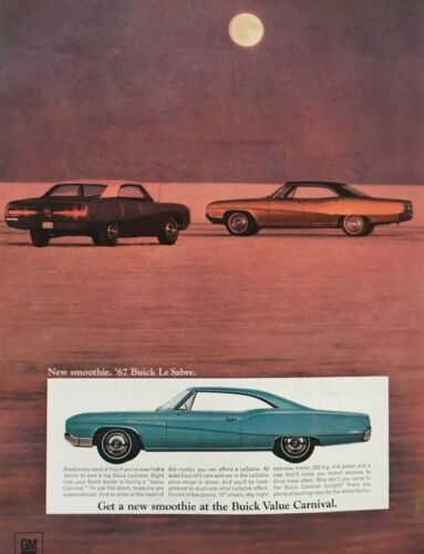 1967 Buick LeSabre Hardtop 11x14 Vintage Advertisement Print Car Ad LG56
