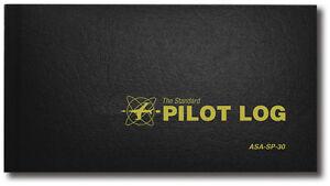 Standard Pilot Log by ASA - Black Hardcover Logbook - A Great Value! - ASA-SP-30