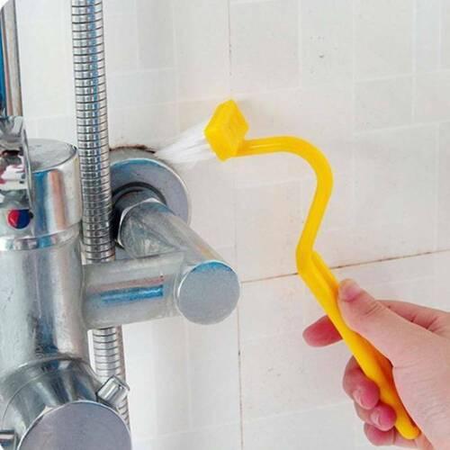 1Pc S Plastic Curved Toilet Cleaning Brush Corner Rim Cleaner Bent Bowl Handle d