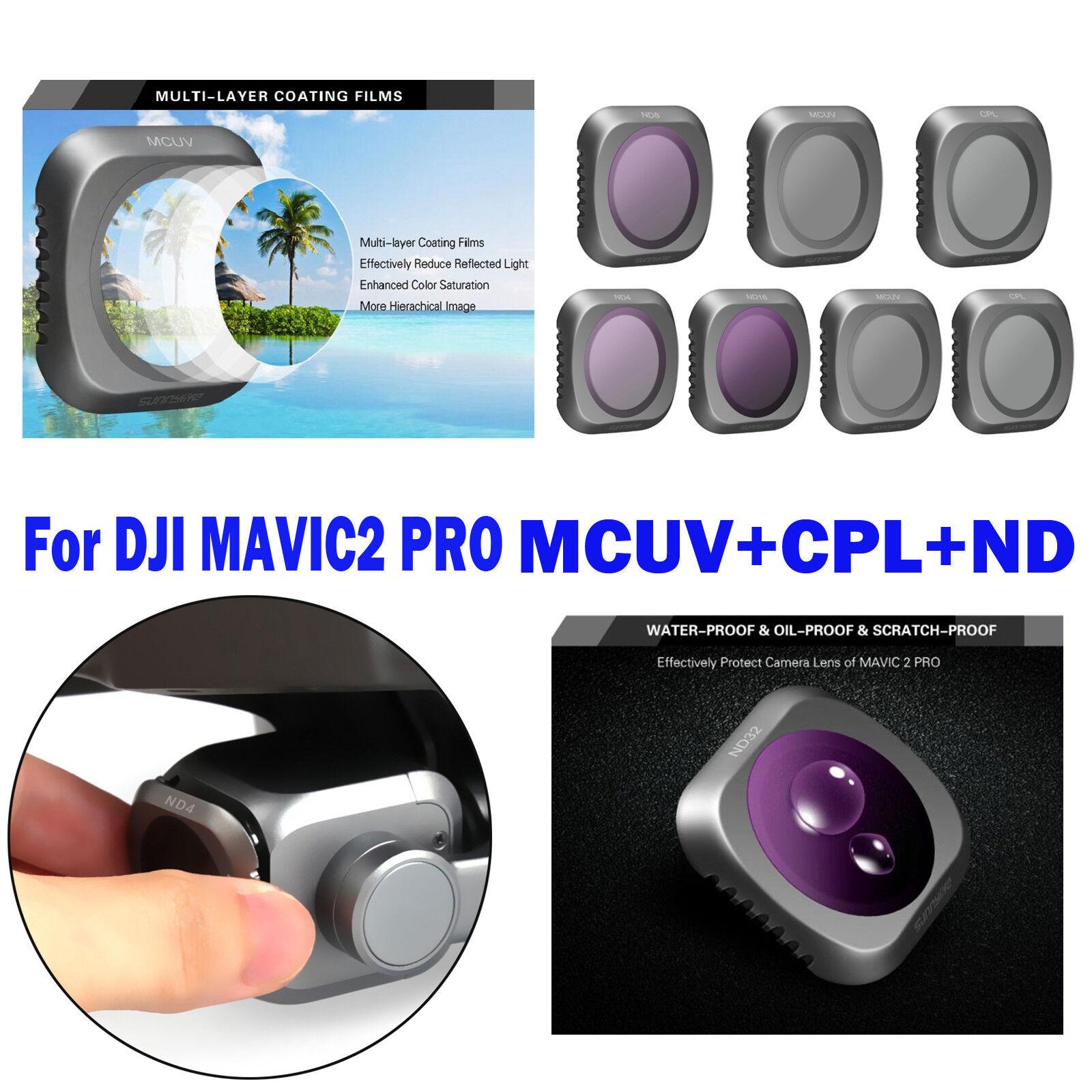 NUOVO Filtro fotocamera Set MCUV +cpl+nd4/8/16/32hd Obiettivo Filtro per DJI Mavic 2 Pro