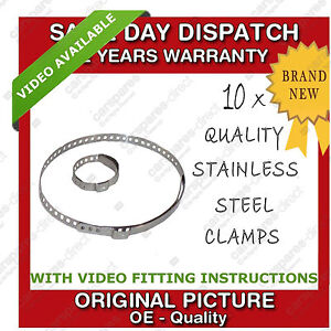 10-x-Universal-Calidad-acero-inoxidable-pinzas-clips-para-Ajuste
