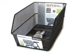 Fahrradkorb für Gepäckträger  Basil Cento WSL 45 x 31 x 22 cm - Schwarz