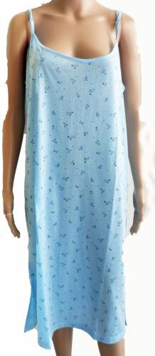 Sleepshirt Nachthemd Spaghettiträger blau grün apricot türkis Gr M L XL NEU!!!